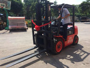 Steel Bar / Roll Material Handling Equipment Diesel Forklift One Year Warranty