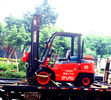 OEM Diesel Forklift Truck With Triplex Full Free Mast 5m Side Shift Container